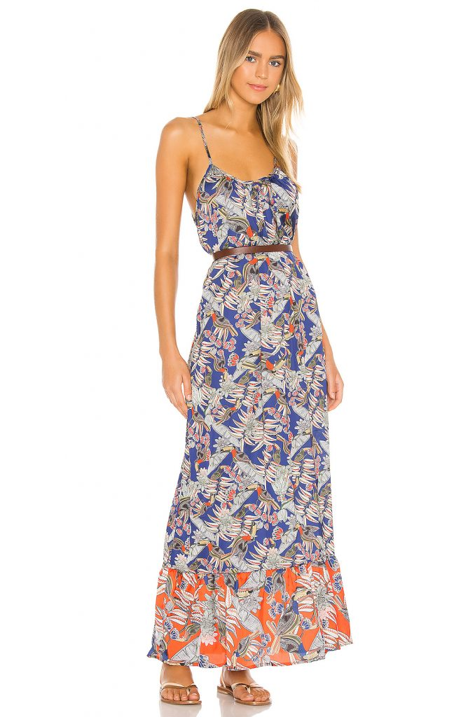 Printed maxi dress from Revolve