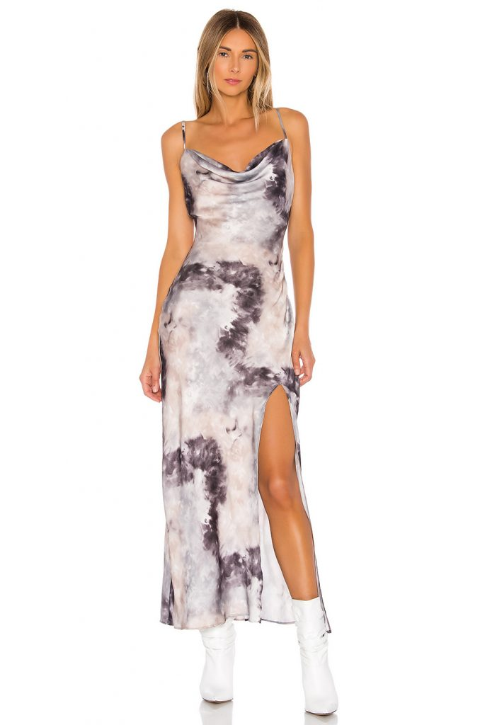 Superdown tie dye maxi dress