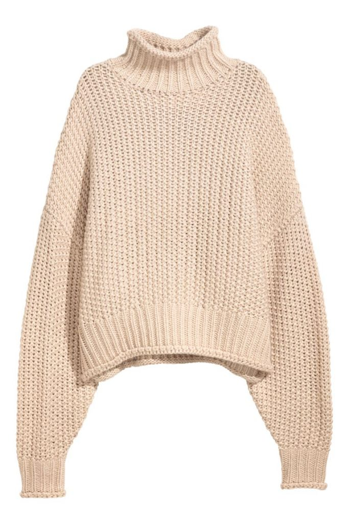 Product photo of a cream sweater from H&M