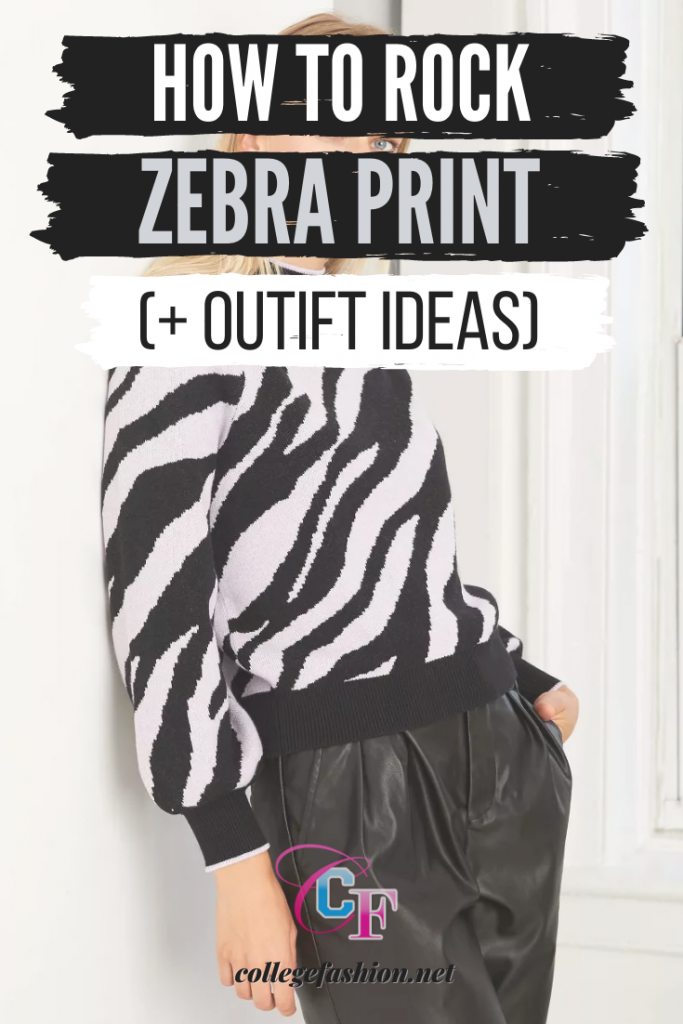 How to rock zebra print - outfit ideas