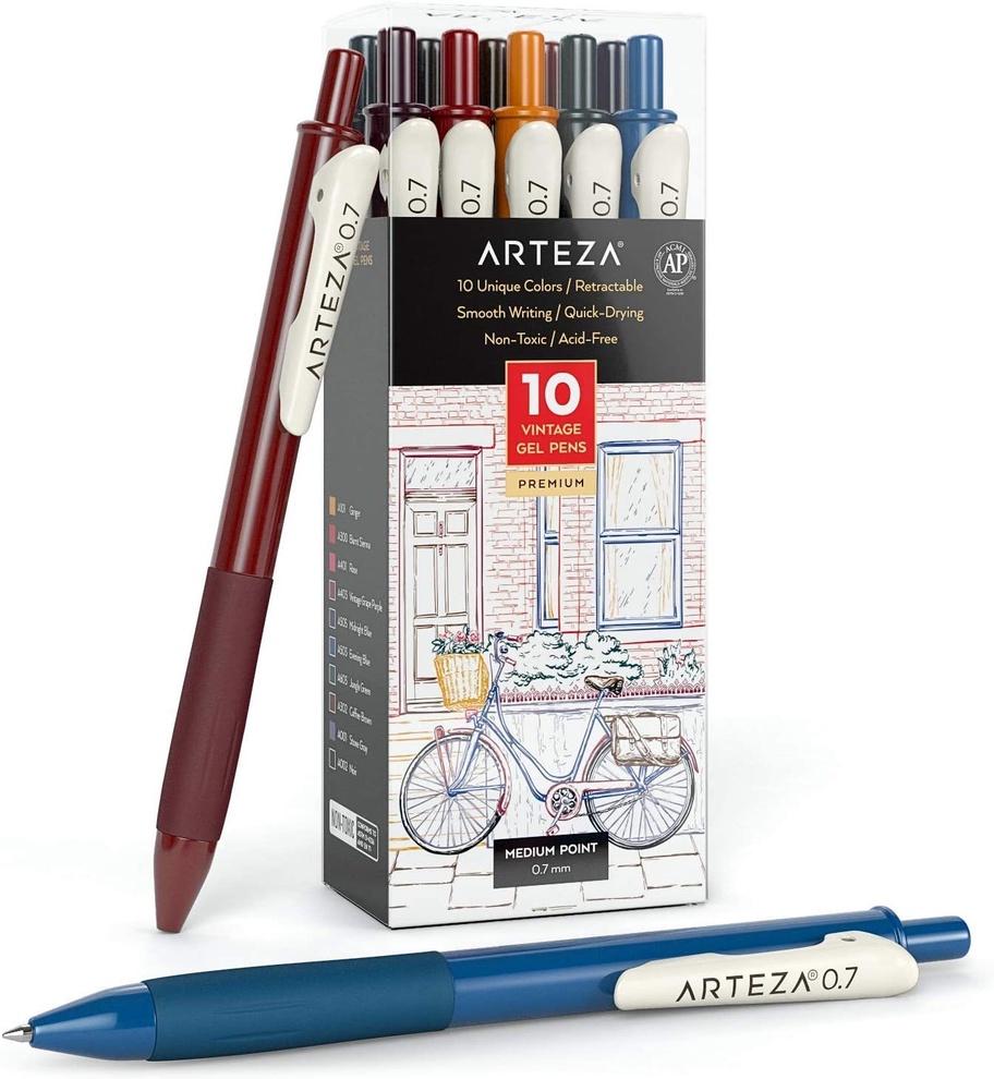 Arteza vintage gel pens