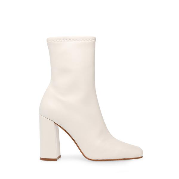 White ankle boots