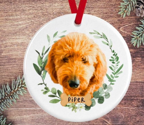 Gift ideas for parents - custom dog ornament