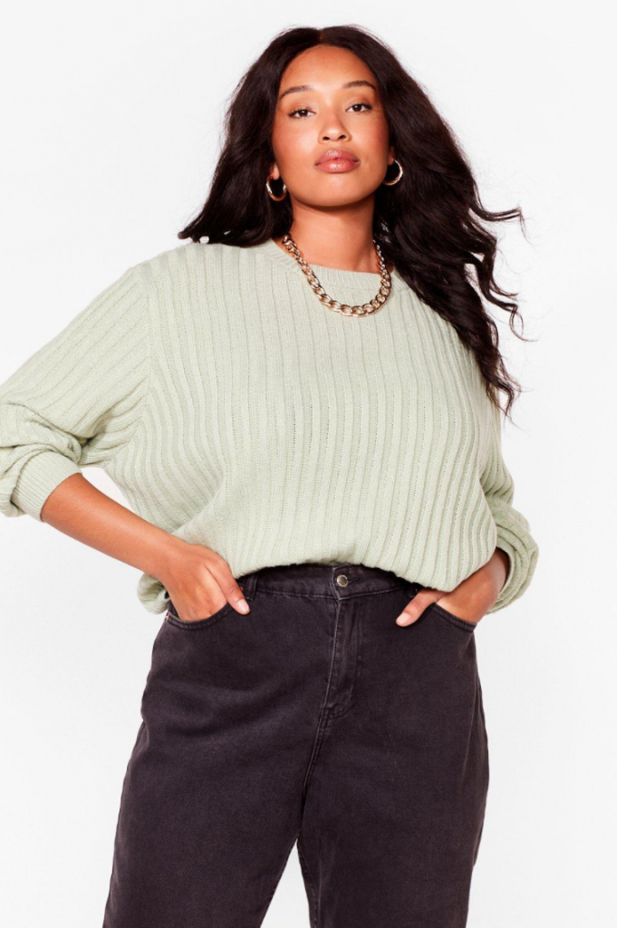 Plus size fall outfits - cute sweater and jeans look