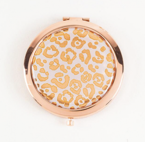 Best stocking stuffers for college students - Leopard print compact mirror from francesca's