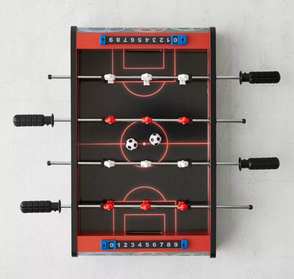 Christmas gifts for boyfriend - Mini foosball game from Urban Outfitters