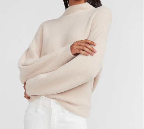 Express Cozy Mock Neck Sweater