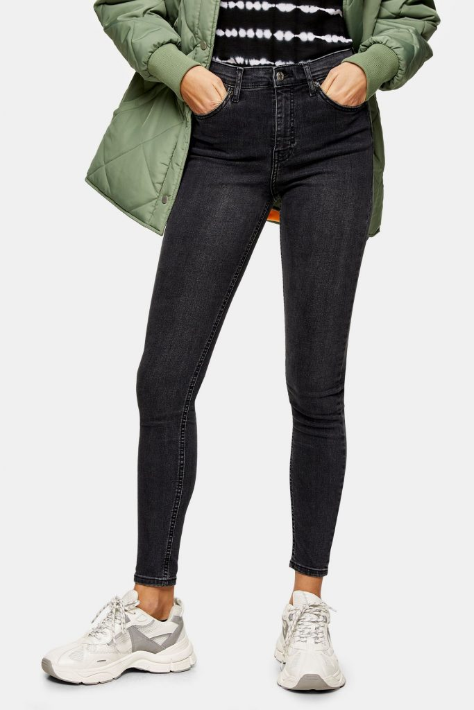 Edgy style essentials: Topshop washed black skinny jeans