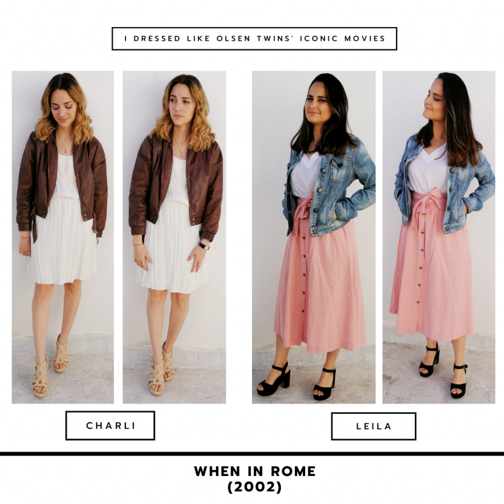 Outfits inspired by Mary-Kate and Ashley Olsen in When in Rome