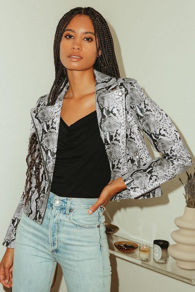 BB Dakota snakeskin jacket