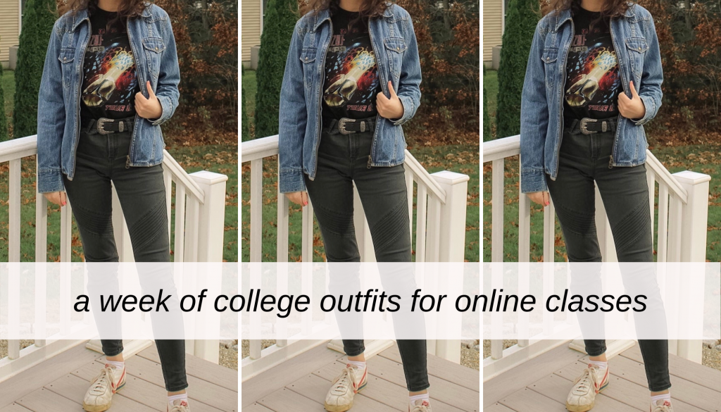 A week of college outfits for online classes (realistic)