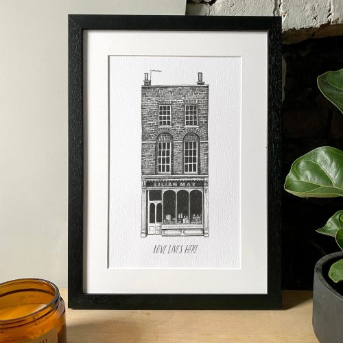 Custom house portrait in pen and ink