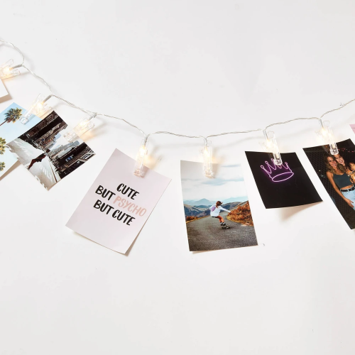 Cute string lights with photo clips