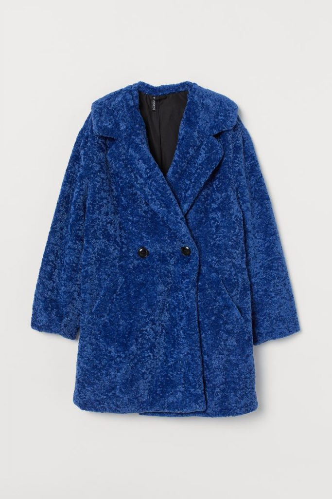 Christmas gifts for college girls - Blue shag coat