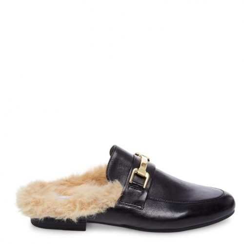 Faux fur fashion - steve madden faux fur loafer mules