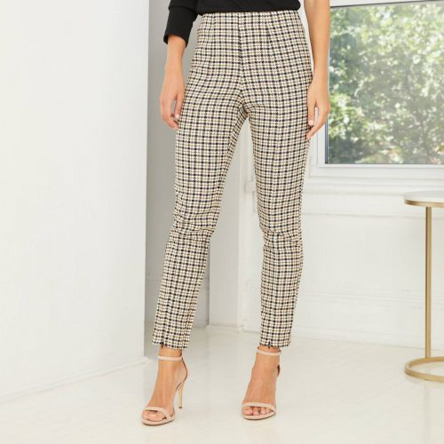 Target Plaid High Rise Split Front Trousers