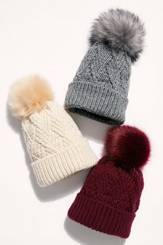 Free People Pinnacle Pom Beanie Hat