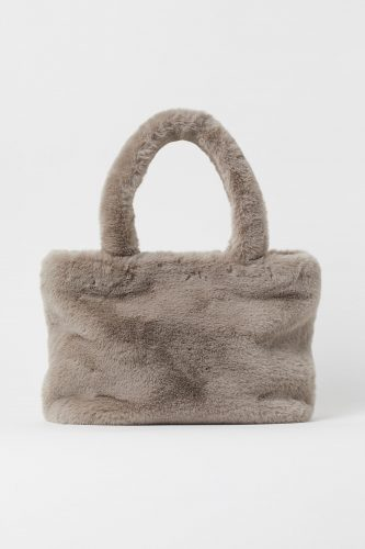 H&M Faux Fur Shopper Bag