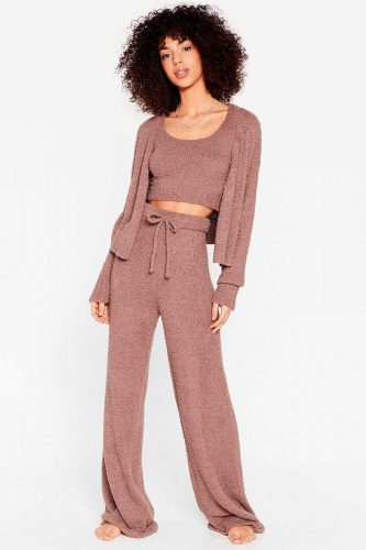 Cozy lounge set from Nasty Gal
