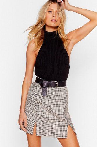 Nasty Gal Checked Mini Skirt