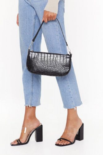 Nasty Gal Croc Shoulder Bag