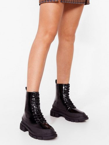 Nasty Gal Patent Heeled Boots