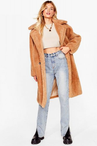 Nasty Gal Oversized Teddy Coat