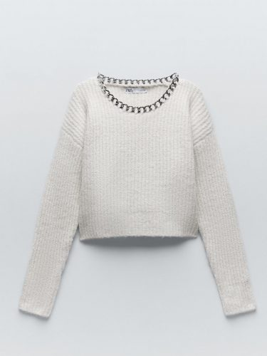 Zara Knit Sweater with Chain