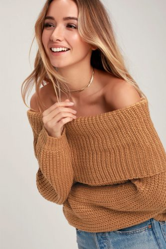 Lulu's Off the Shoulder Sweater