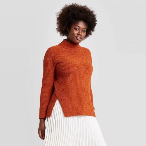 Target Mock Turtleneck Pullover Sweater