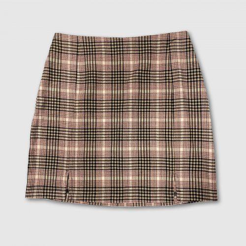 Target Plaid Double Slit Mini Skirt