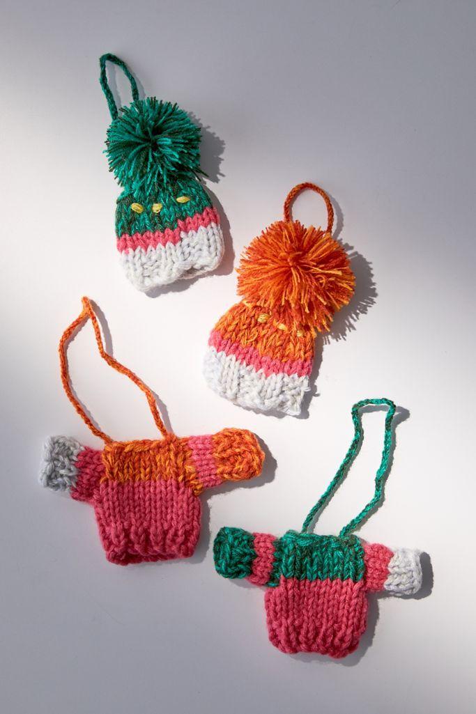 Mini sweater ornaments