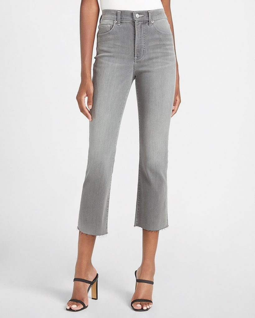 High-waisted flare cropped jeans from Express