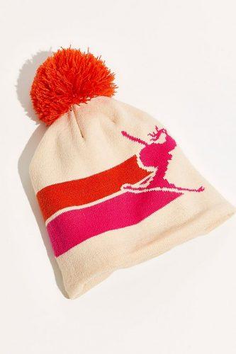 Ski fashion finds - Neon pom pom beanie from Free People