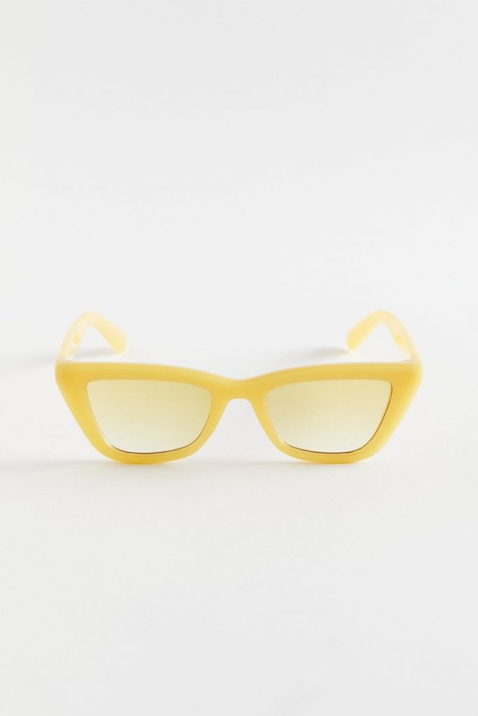yellow rectangle sunglasses from Urban Outfitters