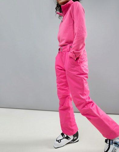 Hot pink ski pants -ski fashion finds