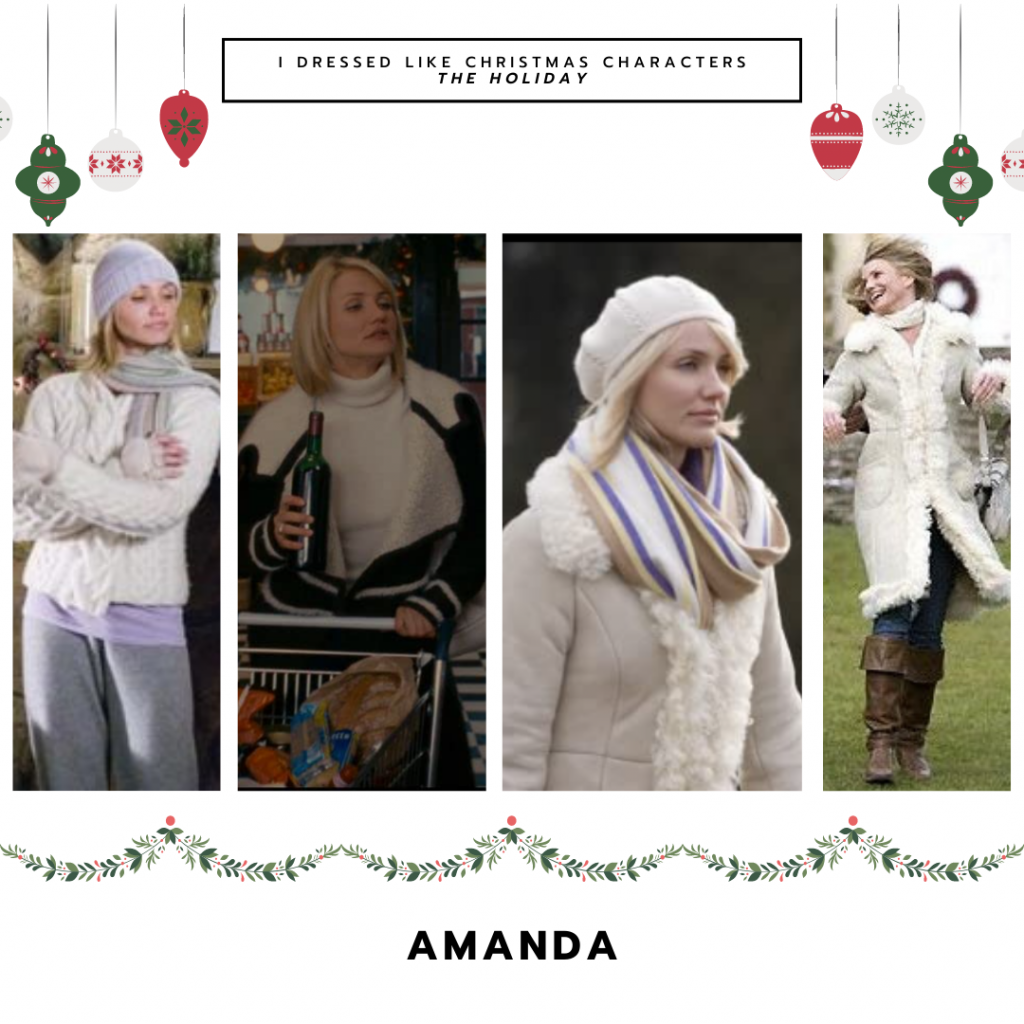 Amanda in The Holiday, played by Cameron Diaz