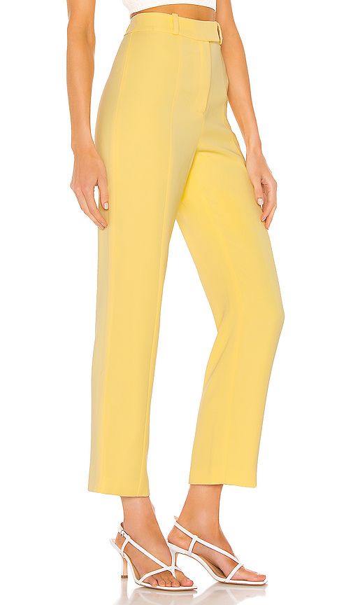 color trends 2021, cropped yellow pant