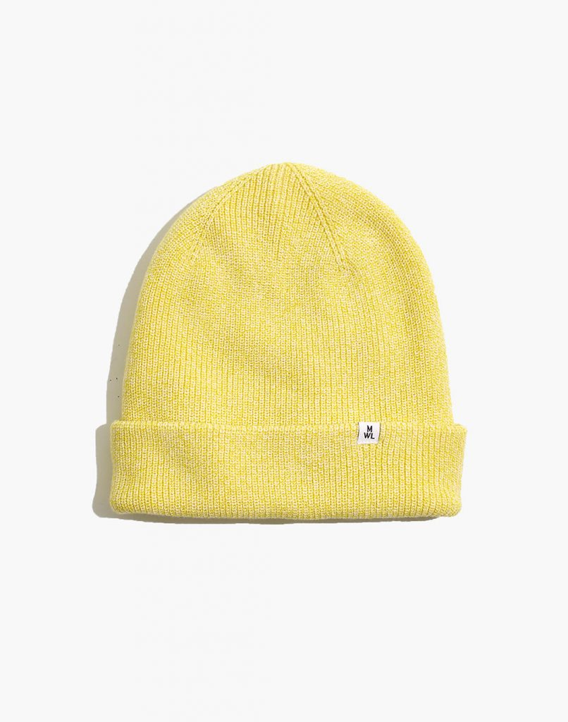 yellow Madewell beanie, color trends 2021