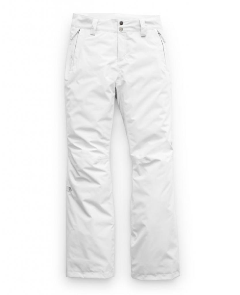 White ski pants