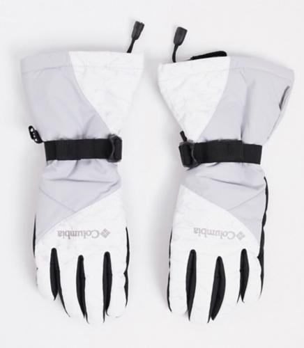 Ski fashion essentials - columbia gray and white gloves