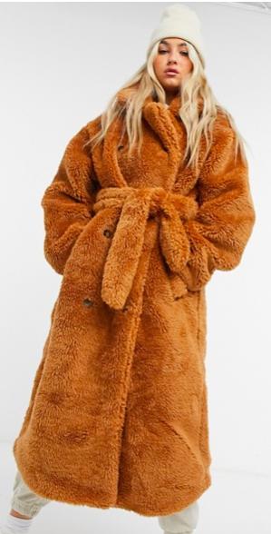 Burnt orange teddy coat
