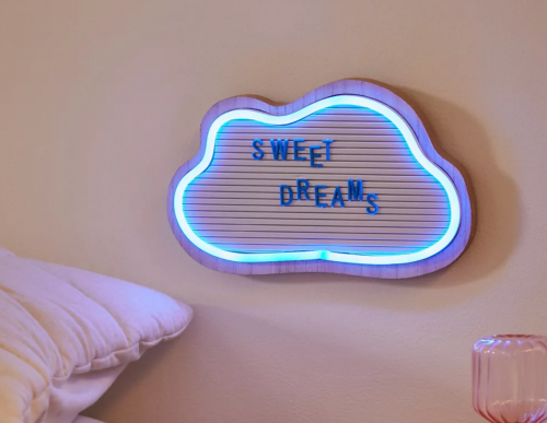 Cloud LED neon sign from Urban Outfitters