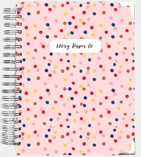 Cute planners 2021 - Polka dot planner from Ivory Paper Co