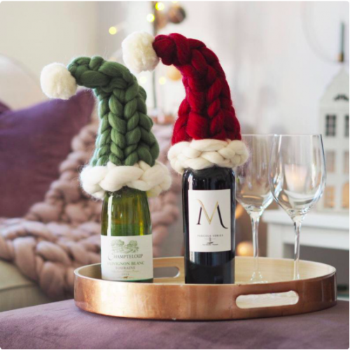Mini santa hats from Lauren Aston Designs