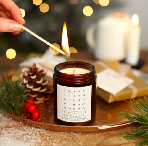 Etsy holiday decor - Candle advent calendar from Etsy