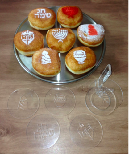 Hanukkah donut decoration stencils