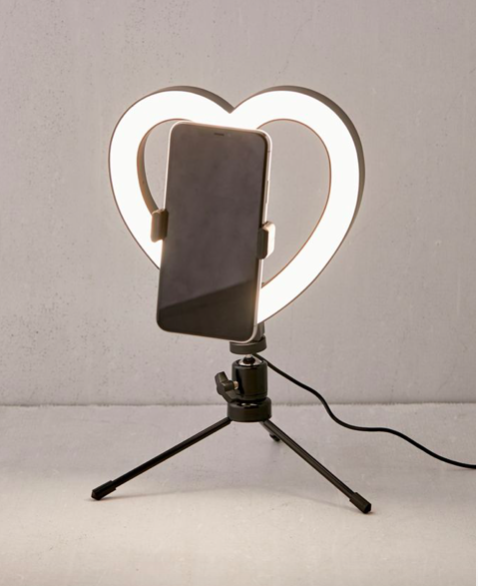 Heart shaped ring light for selfies - best Galentines Day 2021 gifts