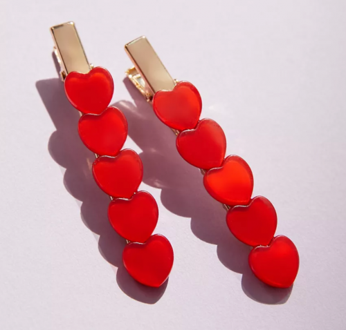 Heart hair clips from Urban Outfitters