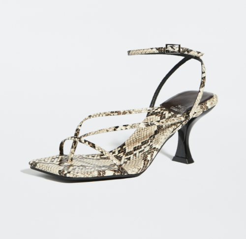 New Year's Eve fashion: Shopbop Snake Print Strappy Sandals